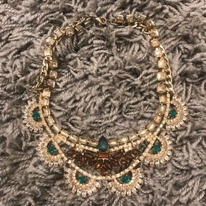 BAUBLEBAR EMERALD BROWN STATEMENT CHUNKY NECKLACE